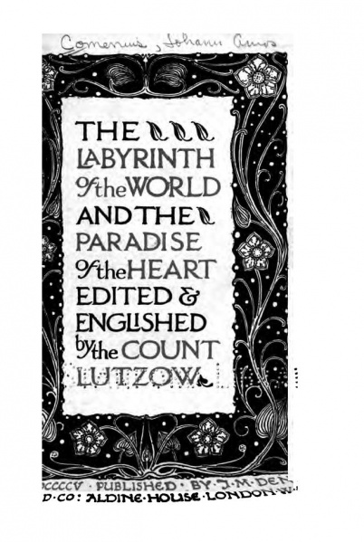 File:Comenius John Amos The Labyrinth of the World and the Paradise of the Heart 1905.jpg
