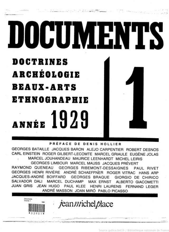 Cover art for Documents: doctrines, archéologie, beaux-arts, ethnographie,