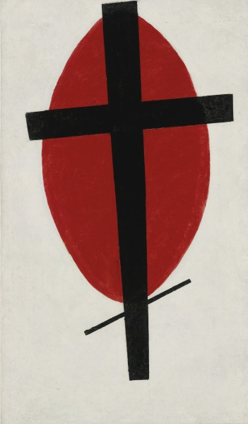 File:Malevich Kazimir 1920-22 Mystic Suprematism Black Cross on Red Oval.jpg